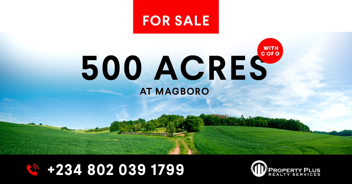 500 Acres with C of O For Sale at Magboro